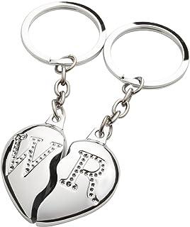 Brubaker Partner-hänge nyckelhängare broken hjärta gravyr med dina personliga initialer M & W