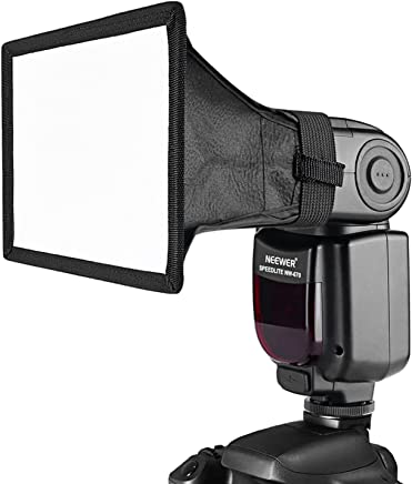 Neewer 20 x30厘米 专业影室通用可折叠机顶闪光灯柔光罩 配便携包(亚马逊进口直采,美国品牌)