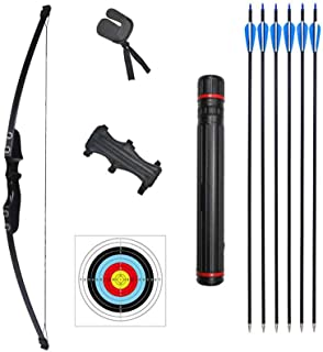 Rootmemory Archery Recurve Bow and Arrows Set for Adults 30 40 lbs with Quiver Target Faces Arm Guard Finger Saver,Takedow...