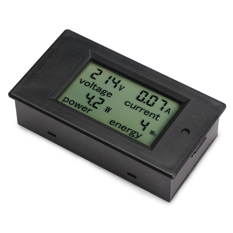 Panel Lcd Digital 100A Ca 80~260V Medidor de Potencia Digital Voltaje Kwh Vatio Volt/íMetro Amper/íMetro Mult/íMetro Probador Medidor