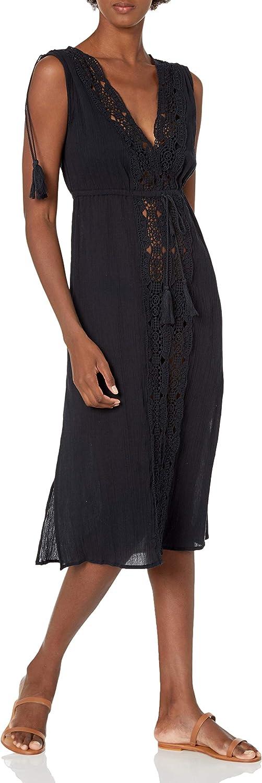 La Blanca Women's Standard Tie Front Midi Dress Swimsuit Cover Up