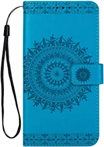 Huawei P10 Plus Case  Bear Village  Premium Leather Flip Folio Case with Card Slot  TPU Shockproof Interior Protective Case for Huawei P10 Plus  Blue