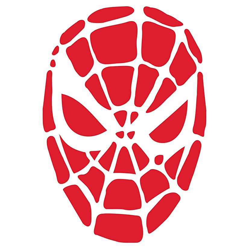 """Halloween Spiderman Mask Stencil - (Size 4.5""""w x 6.5""""h) Reusable Halloween Wall Stencils for Painting - Best Quality Decor Ideas - Use on Walls, Floors, Fabrics, Glass, Wood, and More…"""