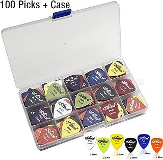 100pcs Acoustic Electric Guitar Picks Plectrum Various Colors 6 thickness 0.58/0.71/0.81/0.96/1.20/1.50 mm + Pick Box