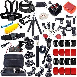 50-in-1 Gopro アクセサリー セット アクションカメラ撮影用パーツ for GOPRO HERO6 HERO5 HERO4 HERO3 SJCAM SJ7000 SJ6000 SJ5 SJ4 アクセサリー