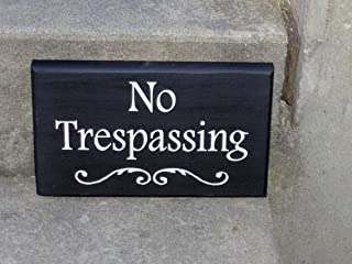 No Trespassing Wood Vinyl Sign Do Not Disturb Private Property Home Decor Wall Sign Porch Sign Gate Sign Garage Sign Wall ...
