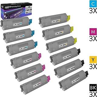 Speedy Inks Compatible Toner Cartridge Replacement for Okidata C610 (3 Black, 3 Cyan, 3 Magenta, 3 Yellow, 12-Pack)