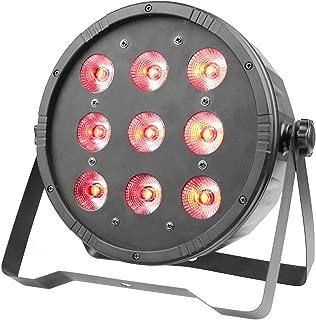 GBGS Par Can Light 9 RGBW LED 7/5CH DMX512 DJ Stage Lighting for Wedding Event Festival Celebration KTV Party Show