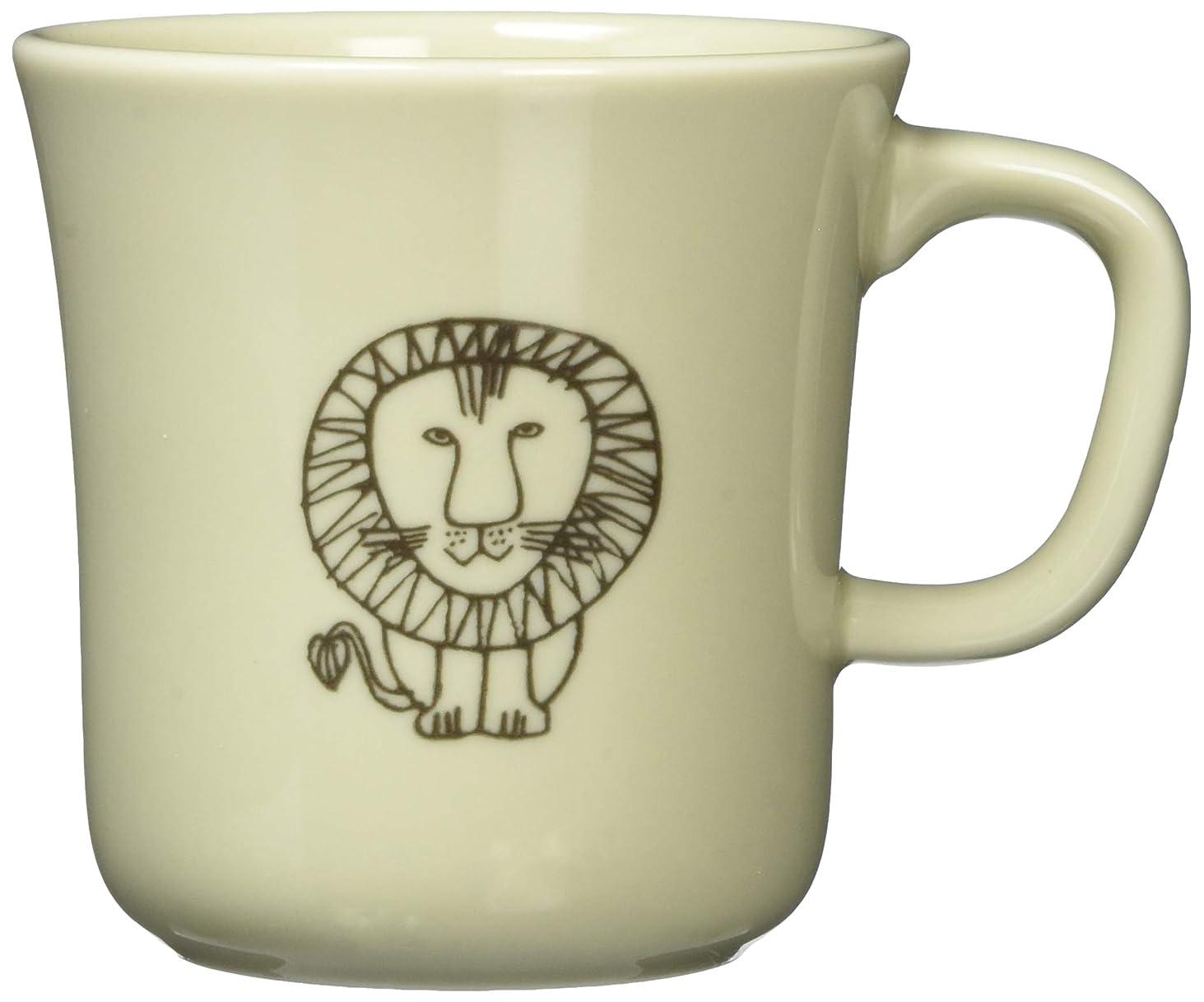 方言報いる保守可能Lisa Larson (リサ ラーソン) 「 ラインアート 」 マグカップ ライオン柄 LL12-11