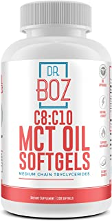 Dr. Boz C8:C10 MCT Oil Softgels [Keto MCT softgel] Keto Supplement -Best MCT Pill for Keto Diet - Weight Loss Supplement –...