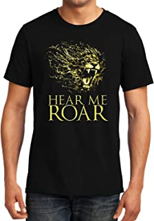 GeekDawn Graphic Printed T-Shirt|Hear Me Roar T-Shirt|Funny Quote T-Shirt|Geek T-Shirt|Game of Thrones T-Shirt|Round Neck T-Shirt|Gift|Gifting