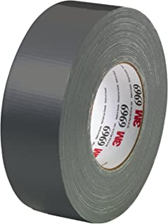 3M Extra Heavy Duty Duct Tape 6969 Black, 48 mm x 54.8 m 10.7 mil, Conveniently Packaged (Pack of 1)