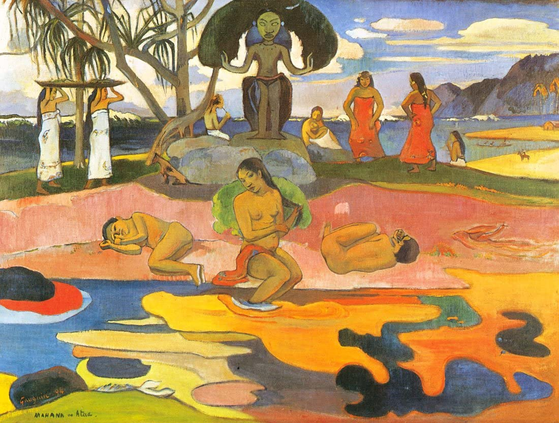 The Day of God-Gauguin - Canvas Wall FINE 毎日がバーゲンセール Print Art OR まとめ買い特価
