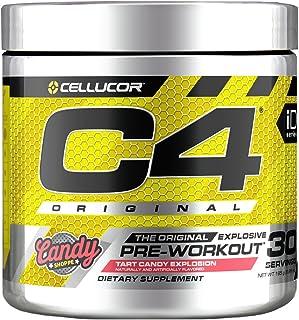 C4 Original Pre Workout Powder Tart Candy Explosion | Sugar Free Preworkout Energy Supplement for Men & Women | 150mg Caff...