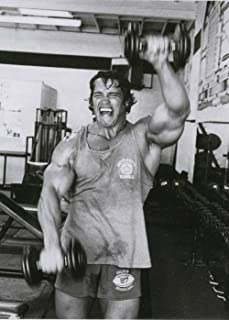 Tomorrow sunny 24X36 INCH / ART SILK POSTER / Arnold Schwarzenegger Bodybuilder Olympia Universe Conquer Classical Sport Poster Home Deco