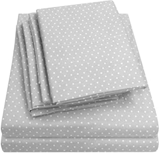 Sweet Home Collection, Microfiber Deep Pocket Set - 2 EXTRA PILLOW CASES, GREAT VALUE Queen 6PC-SHT-Q-DTGRY