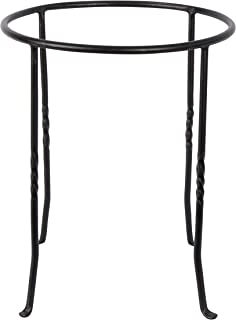 Achla Designs FB-14 Ring Wrought Iron Metal Plant birdbath Bowl Stand Flowerpot Holder, Black