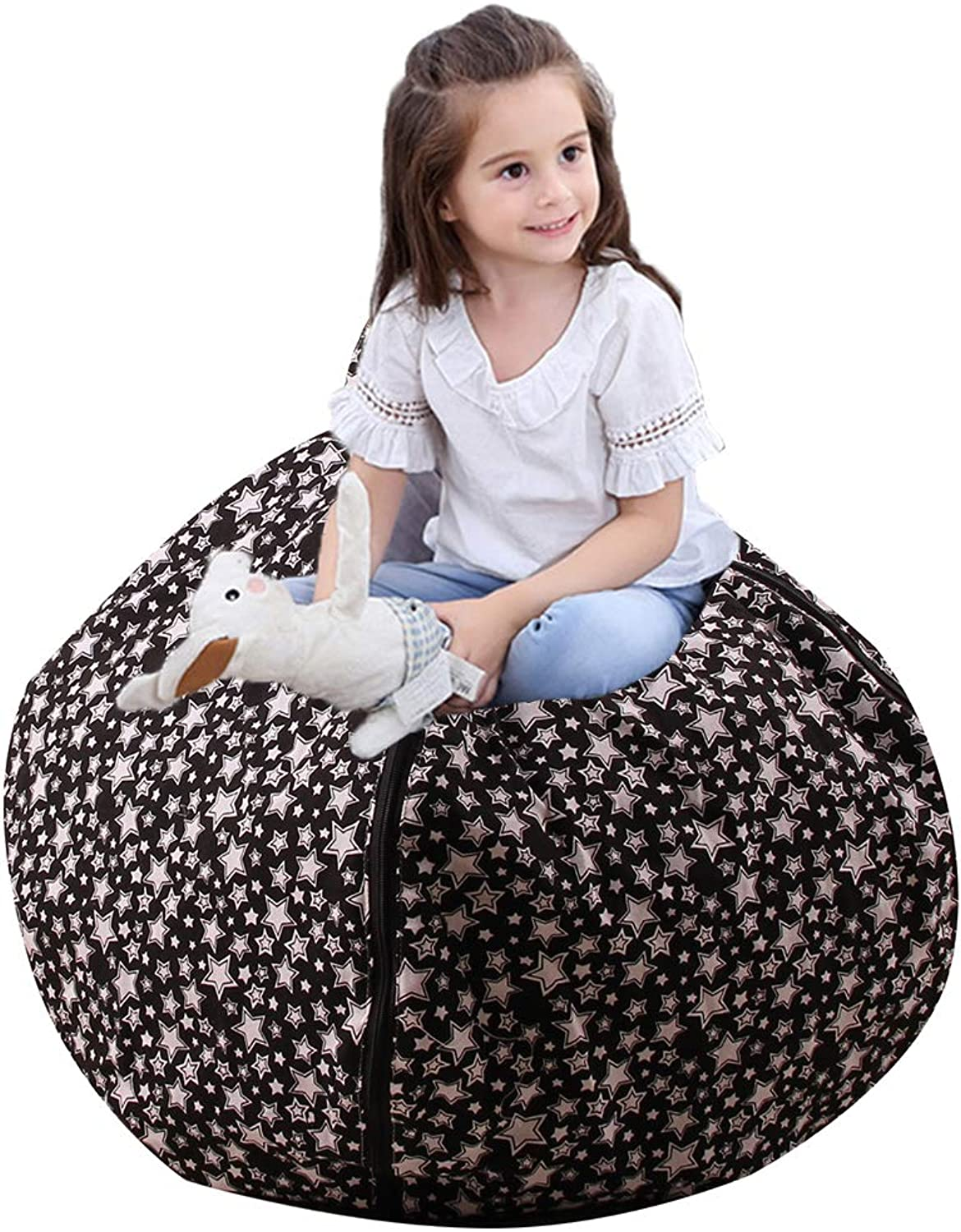Gatycallaty Kids Comfy Chair Cover, Perfect for Storing Stuffed Animals, Clean Up Your Room and Play Area, Fashion Star Design