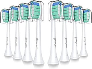 Senyum Optimal Plaque Control Replacement Toothbrush Heads, Compatible with all Snap-on Philips Sonicare Electric Toothbrushes, Fits for C2, HX6250 and others (8 Pack)