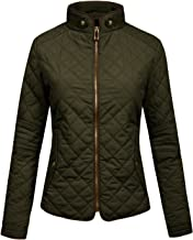 J.LOVNY Womens Lightweight Quilted Warm Zip Jacket