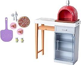 Barbie Quiero Ser Pizza Chef, accesorios de cocina (Mattel FXG39)