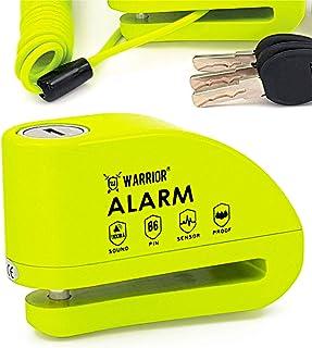 WARRIOR WA6Y Bremsscheibenschloss Alarm 110 db , ø 6 mm, Universal Motorrad Scooter Fahrrad, Erinnerungskabel, Wasserdicht
