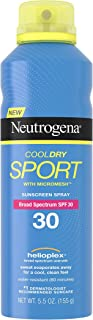 Neutrogena Cooldry Sport Sunstech creen Spray, SPF 30 (155 g) Protección Solar Spray – de Estados Unidos