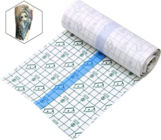 Tattoo Aftercare Waterproof Bandage 6 in x 1 yd Transparent Film Dressing Second Skin Healing Protective Clear Adhesive Antibacterial Bandages Tattoo Supplies Tattoo Bandage Roll