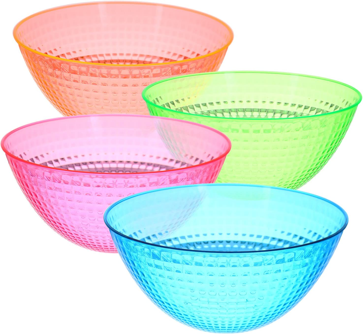 Set Max 82% OFF of 4 – Max 66% OFF Round Plastic Snack o Party Serving Bowls