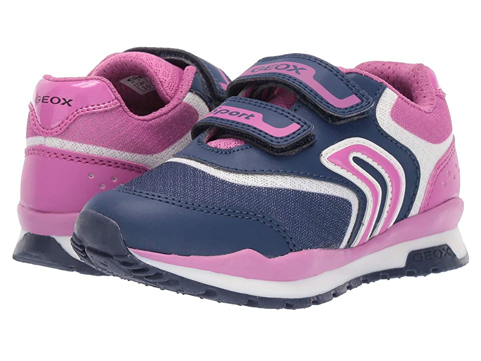 Geox Kids Pavel Girl 3 (Little Kid) (Navy/Fuchsia) Girl