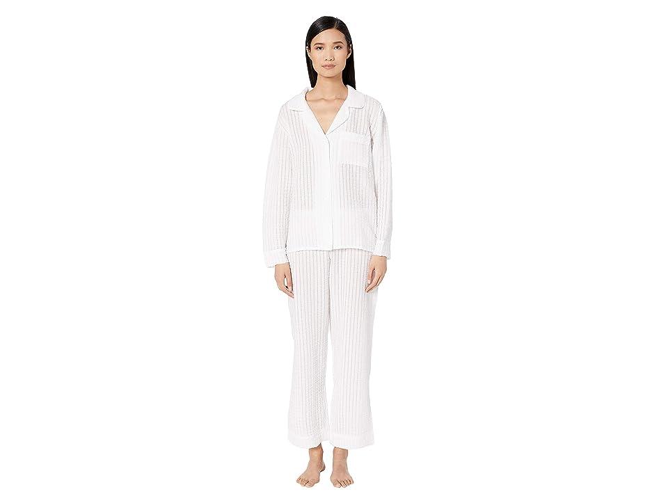 Eberjey Paz The Breezy Long PJ Set (White) Women