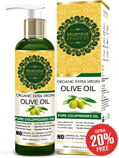 Morpheme Remedies Organic Extra Virgin Olive Oil Pure ColdPressed Oil for Hair & Skin - 120ml
