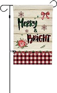 pedkit Bandeira de jardim de Natal à prova d'água Impressão dupla-face Decoração vertical dupla-face Decoração de Natal Ac...