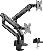 VIVO Premium Aluminum Full Motion Dual Monitor Desk Mount Stand with Lift Engine Arm, Fits Screens up to 32 inches, STAND-...