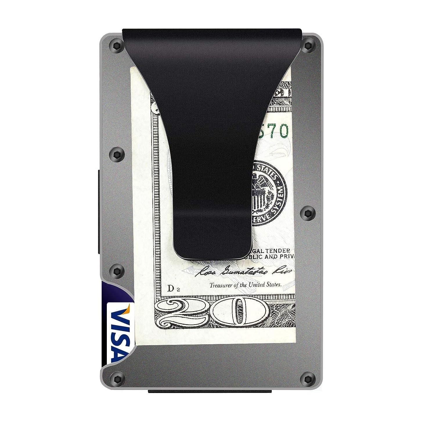 Carbon Fiber Aluminum Mens Wallet Money Clip Wallets for Men RFID Blocking Minimalist Wallet, Slim Wallet