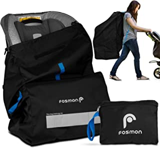 Fosmon Infant Car Seat Travel Bag for Airplane, Nylon Backpack Style Padded Adjustable Shoulder Strap, Drawstring Airline ...