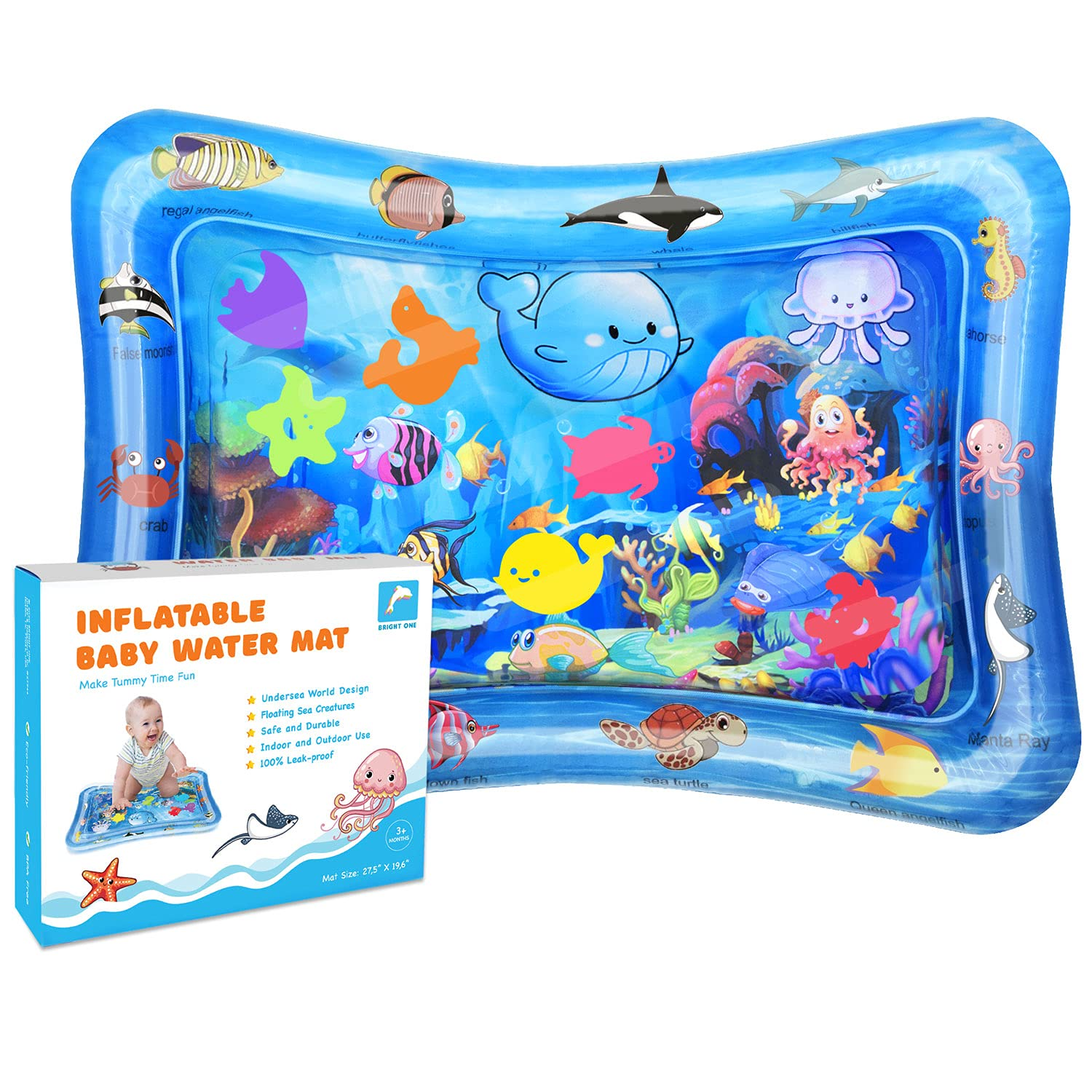 shopping Tummy Time Water Play Mat - for Inflatable Infants 6 3 2021 model