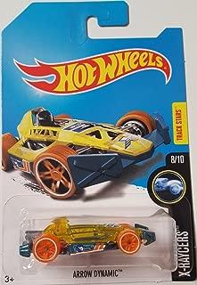 Hot Wheels 2017 X-Raycers Arrow Dynamic Yellow and Turquoise (Treasure Hunt)