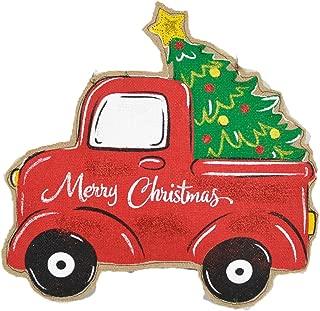 painted christmas tree door hanger