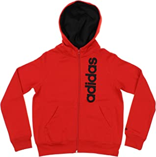 adidas Youth Boy's Full Zip Solid Embroidered Hoodie, Color Options