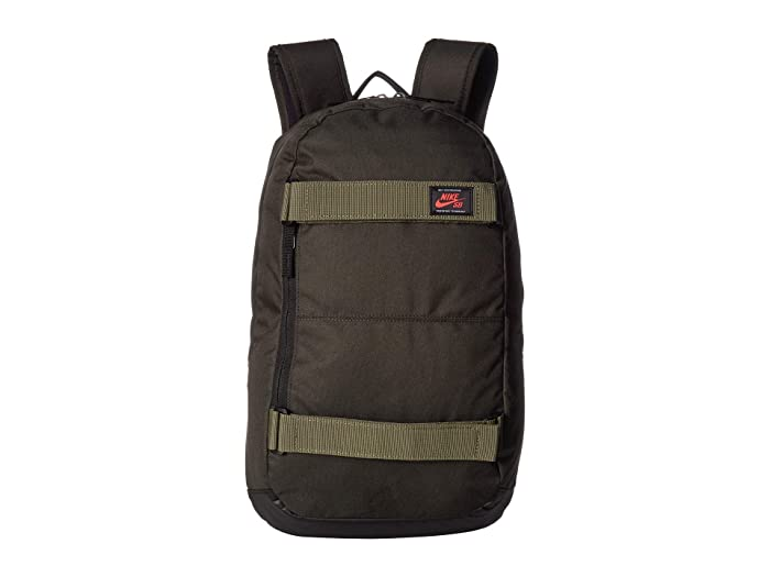 Nike SB Courthouse Backpack (Sequoia/Medium Olive/Ember Glow) Backpack Bags