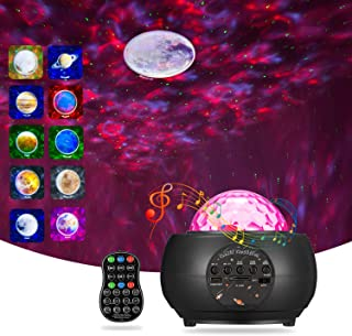 2021 Star Projector with 9 Planets BSYUN 3rd Version Sound Activated Galaxy Projector Nebula Night Light for Bedroom Room ...