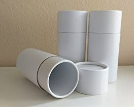 Set of THREE Serene White Biodegradable CREMATION SCATTERING TUBES w/Telescopic Lids & Instructions