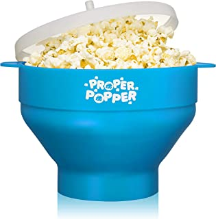 The Original Proper Popper Microwave Popcorn Popper, Silicone Popcorn Maker, Collapsible Bowl BPA Free & Dishwasher Safe -...