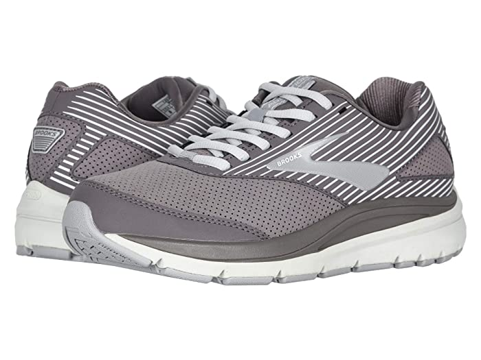 Brooks  Addiction Walker Suede (Shark/Alloy/Oyster) Womens Walking Shoes