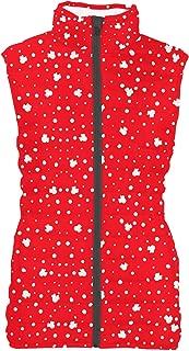 Rainbow Rules Minnie Red Polka Dots Womens Puffer Vest Bodywarmer Gilet