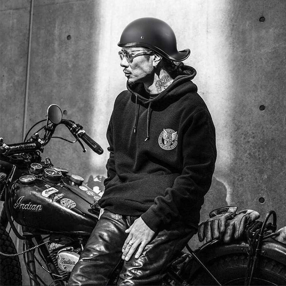 BYOUQ Harley Medio Casco Scooter Dot Cascos Bicicleta Retro,Casco Moto Abierto para Street Bike Cruiser Moped Half Moto,Cascos Helmet Chopper Mujer Y Hombre XL 61~62CM