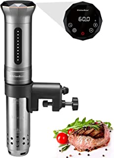 Sous Vide Immersion Circulator, KitchenBoss 1100 Watt IPX7 Waterproof Sous Vide Cooker With Accurate Temperature Control Digital Display Includes 10pcs Vacuum Sealer Bags