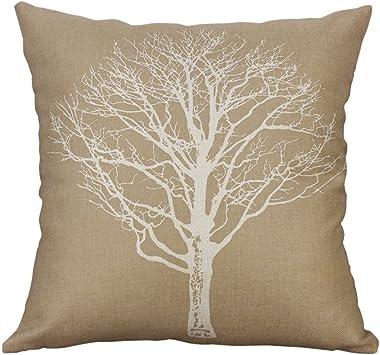 Lemoning Cotton Linen Square Home Decorative Throw Pillow Case Sofa Waist Cushion Cover, C Over Pillow Case Home Decor Living Room for Easter
