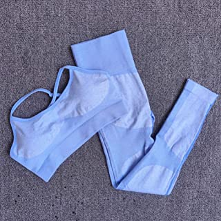 Beiziml Seamless Yoga Set Sportswear Sportswear High Waist Women Gym Leggings Tights Push-Up Padded Sports Bra 2 Pieces Sp...